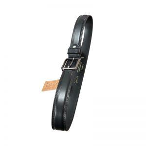 Movi black leather belt